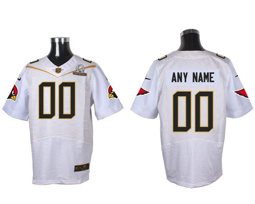 finest selection ef2d9 646a1 Nike Arizona Cardinals Customized White 2016 Pro Bowl Men's Stitched NFL  Elite Jersey