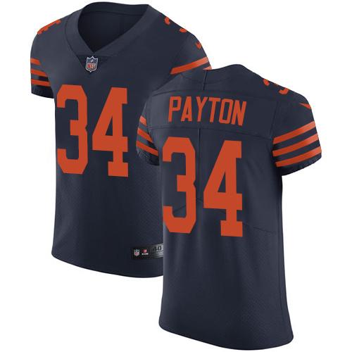separation shoes 0ae11 fad36 Nike Bears #34 Walter Payton Navy Blue Alternate Men's Stitched NFL Vapor  Untouchable Elite Jersey