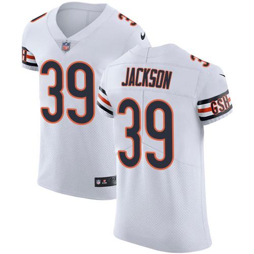 quality design 22367 ad682 Nike Bears #39 Eddie Jackson White Men's Stitched NFL Vapor Untouchable  Elite Jersey